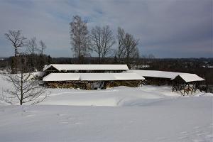Otepään piispalinnan rauniot talvella
