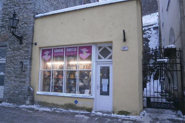 Kauplus Kübarapood Tallinna vanalinnas