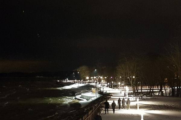 Sillamäe beach promenade in winter