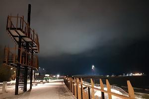 Am Rande der Strandpromenade von Sillamäe befindlicher Aussichtsturm