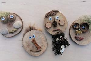 Workshop zum Basteln von Kühlschrankmagneten aus Holz in Soomaa