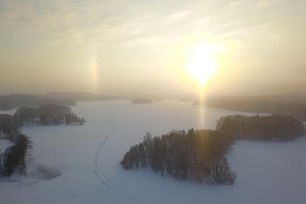 Pühajärvesjön på vintern