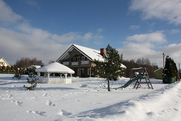 Veerpalu Villa talvine vaade