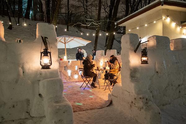 ULA bar, snow bar, winter, warm drinks