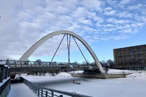 Frihetsbron på vintern
