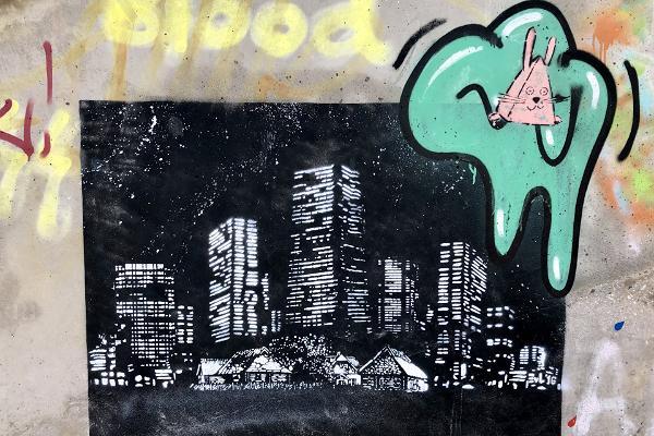 Graffiti under the Freedom Bridge