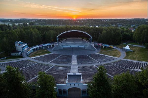 Тартуская певческая сцена в парке отдыха Тяхтвере