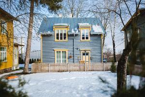 Träarkitektur i stadsdelen Karlova