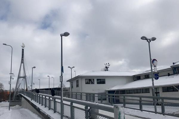 Turusild Bridge in winter