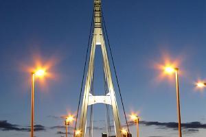 Turusild (Marknadsbron) i kvällsmörker