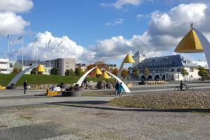 Der zentrale Platz von Rakvere