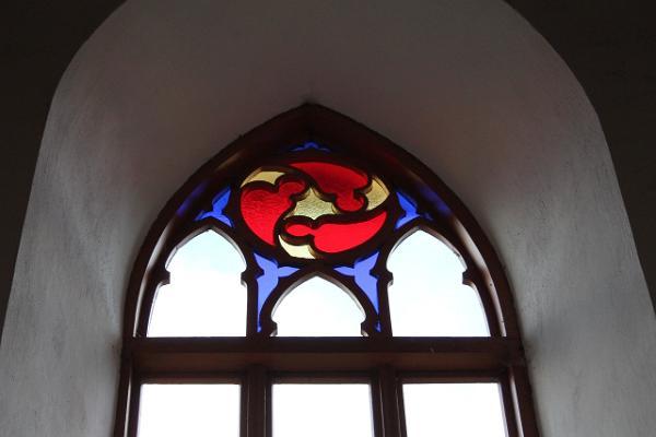 Rannu baznīcas vitrāžas logs