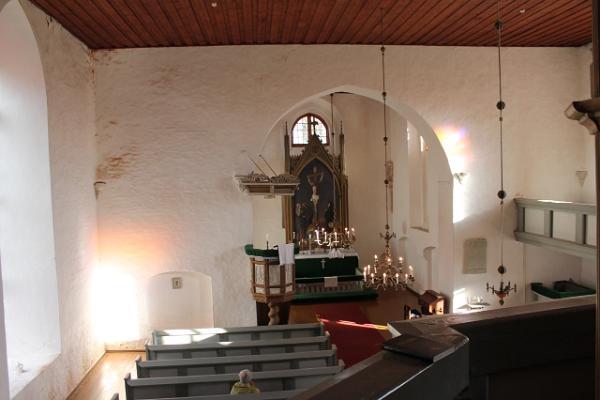 Skats no balkona Rannu baznīcā