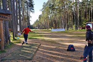 Players at the disc golf park at Tartu County Recreational Sports Centre