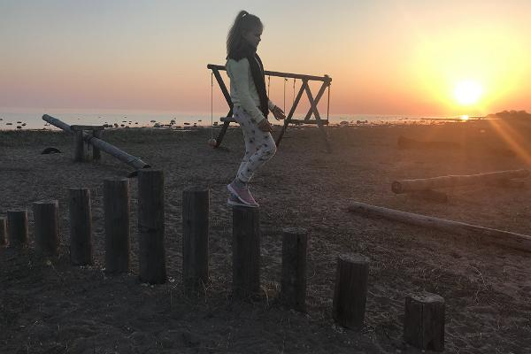There is a seaside playground near Sõru Pub