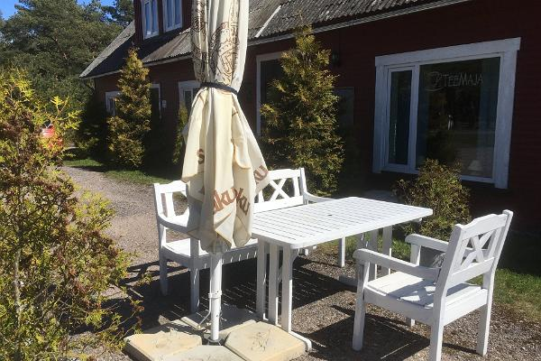 It is nice to relax and dine on the terrace of Emmaste Tea House
