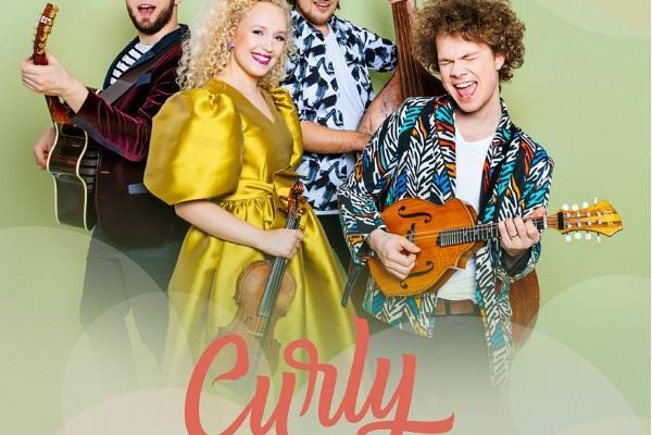 Ansambli Curly Strings plaadiesitluskontserdi ''Pidu meis eneses'' plakat