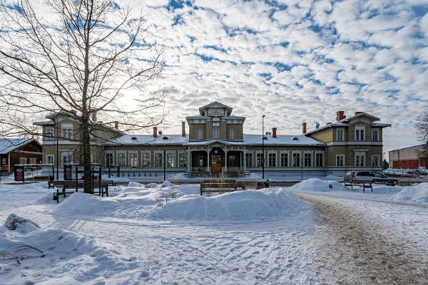 Тартуский железнодорожный вокзал зимой
