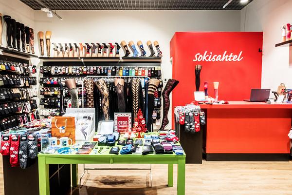 Sokisahtel store at the Nautica shopping center