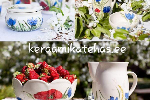 handmade-estonian-ceramics-cornflowers-Rukkililled