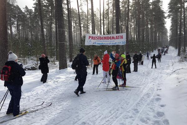 Presidentin retkeilypolku Jänedassa