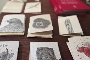 Esna Galerii pood - käsitsi puuvillamassist tehtud ning käsitsi trükitud postkaardid - Nestor Ljutjuk, Labora