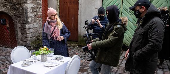 Kohvilaua filmimine Tallinnas Katariina käigus