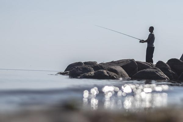 Ranna Recreation Centre, man fishing, moments for yourself in the enchanting silence by Lake Peipus
