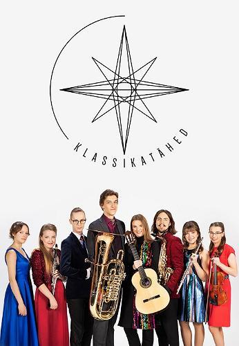 """Kontserdisarja """"Klassikatähed"""" plakat, mille peal osalejad"""