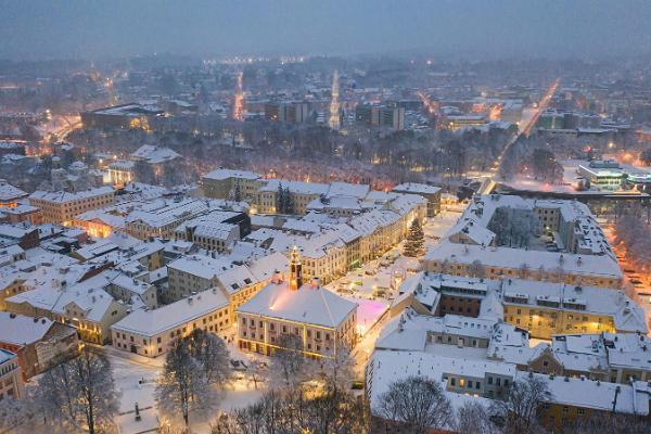 Snowy winter in Tartu