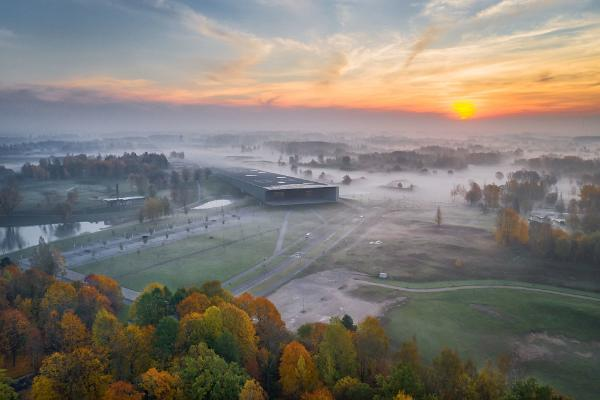 The beautiful Estonian National Museum is worth exploring both inside and out!