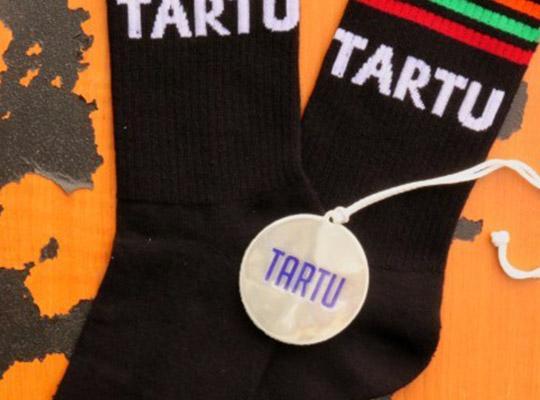 Sokisahtel, TARTU cotton socks and a reflector