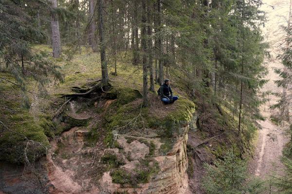 The upper dam (Risbieter) cliff