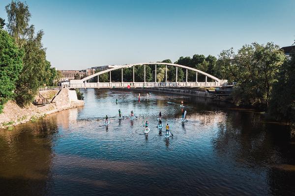 Kuue silla SUP-laua matk läbi suvise Tartu