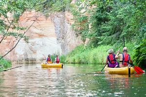 Двухдневные походы на каноэ и байдарках по реке Ахья