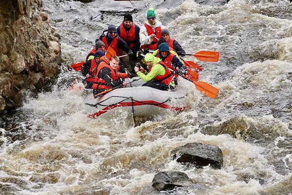 Raftings pavasara palu laikā pa Vehandu (Võhandu) un Piusas upi