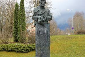 Jakob Hurda monument Põlvas