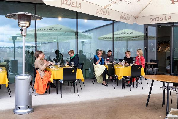 Outdoor cafe at the Estonian National Museum