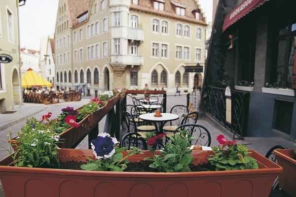 Lillekastid, terrass, kohvik