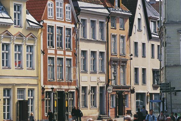 Tallinna vanalinn, inimesed, majad