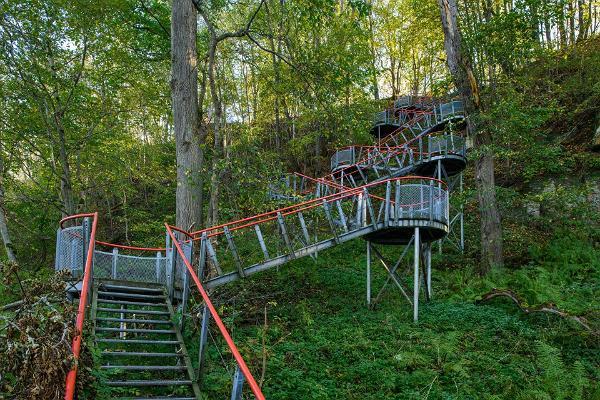 A staircase descending to the sea near Saka Manor