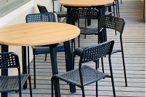 Залы для проведения банкетов и семинаров в Студии питания MyItaly / терраса во дворе