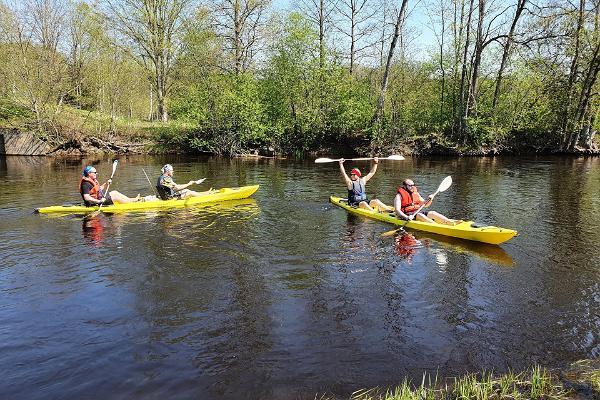 Põltsamaa jõgi, kajakk, kajakkide rent paadirent