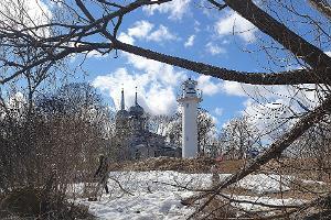 Felsenmeer von Nina oder Kalevipoegs Brücke und der Leuchtturm von Nina