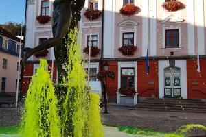 Opastettu kävelyretki Tarton vanhassakaupungissa - Suutelevat opiskelijat