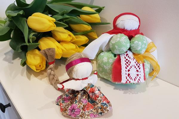"""Tradicionālās krievu talismana lelles """"Laimes lellīte"""" darbnīca saimniecībā """"Vene talu"""""""