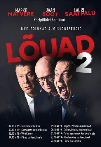 Lauri Saatpalu, Marko Matvere ja Jaan Söödi kontsert