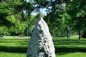 Boulevard of Sculptures in Pärnu beach park