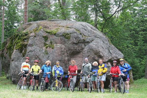 Boulder, group of people on bikes