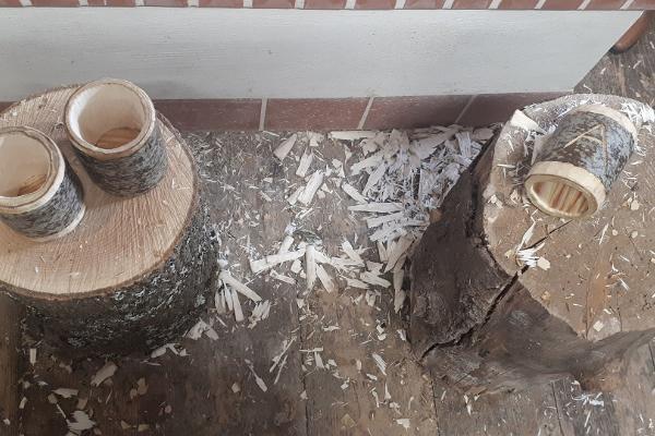 Puutöistä myllytöihin Hellenurmen myllymuseossa: Astia